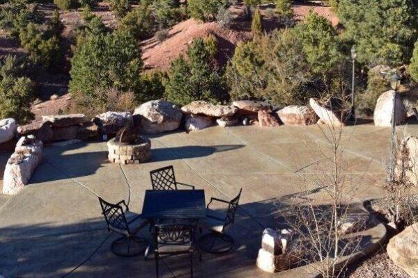 Lodge north patio view