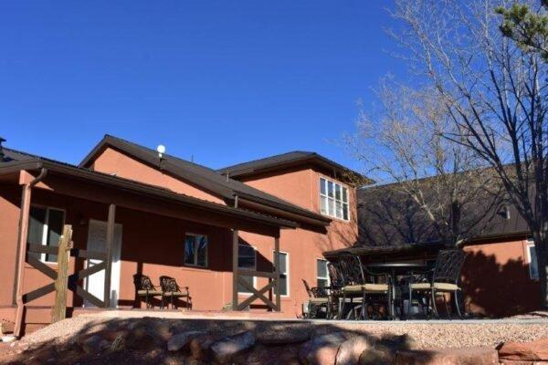 Lodge south patio house