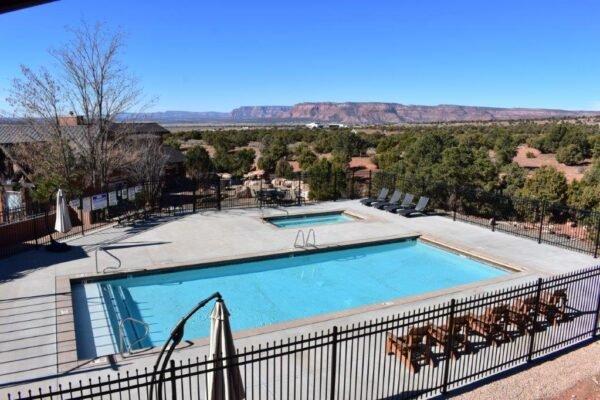 Retreat balconey pool view 1