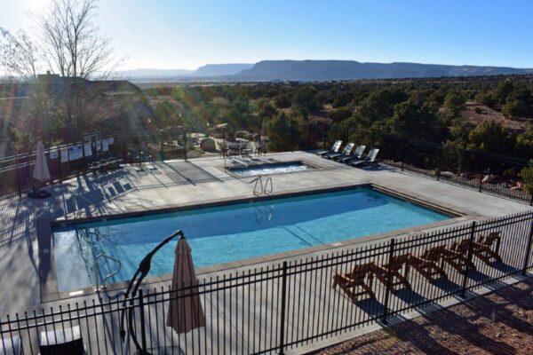 Retreat balconey pool view 2