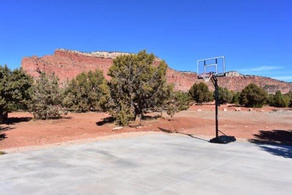 Retreat basketball court